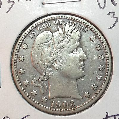 1903-O  XF-  Barber Quarter   Full Liberty     Better Date     Nice Coin