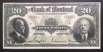 1923 Bank of Montreal $20 - Fine +
