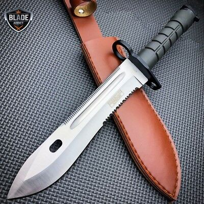 Army Military Tactical Combat Fixed Blade Survival Hunting Bayonet Knife Bowie