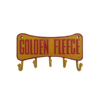 Golden Fleece Cast Iron Key Rack Holder Retro Man Cave Pub Bar - New - Perth