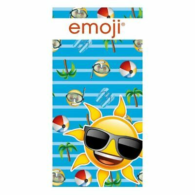 Children Emoji Themed 70 x 140cm Cotton Beach Towel
