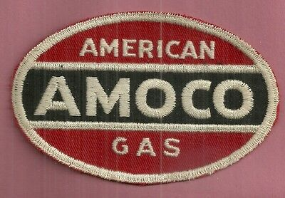 Vintage Service Station AMERICAN AMOCO GAS UNIFORM EMBROIDERED PATCH