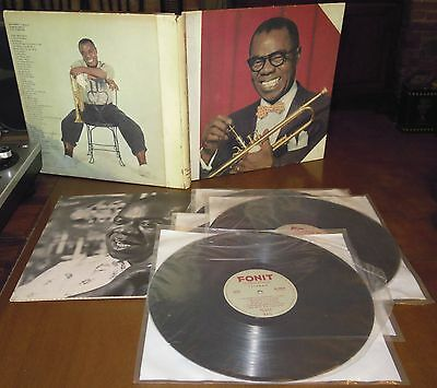 BOX 4LP LOUIS ARMSTRONG A musical autobiography (Fonit 68 ITALY) jazz book VG/M!
