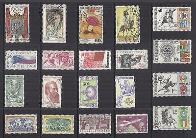 y1190 Czechoslovakia /  A Small Collection Early & Modern Used