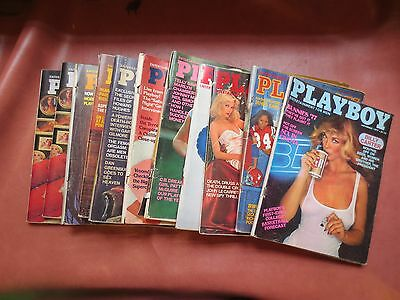 Vintage Playboy Magazines from 1977 LOT of 11