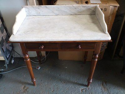 Antique/ Vintage Mahogany/ Marble Wash Basin Stand