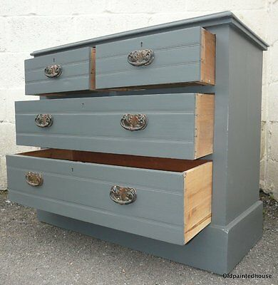 Small Edwardian Painted 3 Drawer Chest Of Drawers
