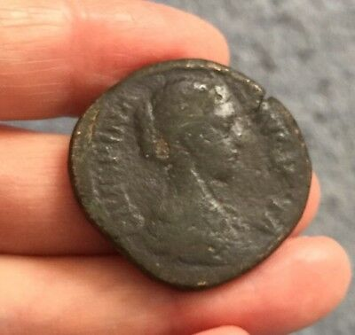 Roman. Crispina (Married To Commodus In 178 A.d). Brass Sestertius.