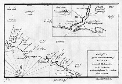 1750 - Guinea Africa West Map engraving