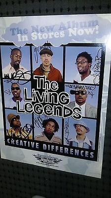 POSTER The LIVING LEGENDS signed AUTOGRAPHED hip hop group GROUCH murs SCARUB