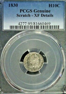 1830 Capped Bust Silver Half Dime Pcgs Genuine Scratch - Xf Details   (2132Nam)