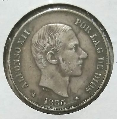 1885 Philippines 50 Centavos - will combine shipping