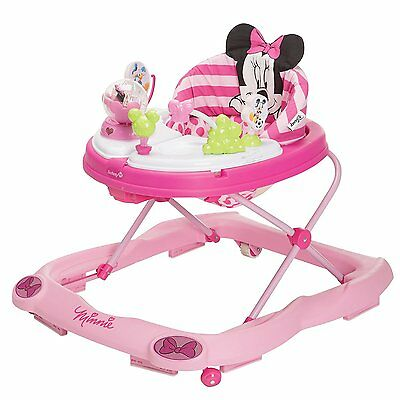 Disney Minnie Mouse Music & Lights Walker with Snack Tray, Glitter Pink Minnie
