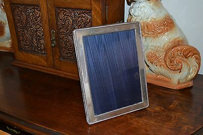"""Antique Vintage Sterling Silver Hallmarked Picture Photo Frame 925 7"""" X 5 1/4"""""""