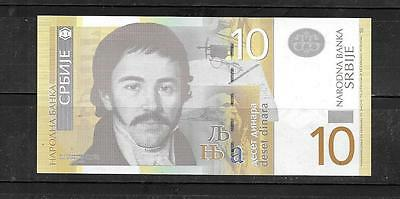 SERBIA 2013 #54b 10 DINARA NEW CRISP MINT CURRENCY BANKNOTE NOTE PAPER MONEY