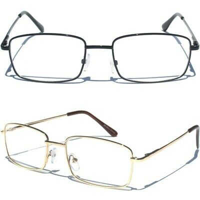 Small Metal Front Clear Lens Eye Glasses Designer Style Fashion Eyewear New