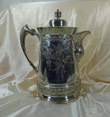 Antique Aesthetic Movement Silverplate Water Pitcher Middletown Plate Co. c1880