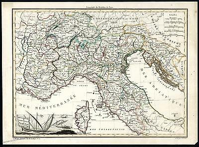 Italy Under France 2 Sicilies 2 Antique Maps 37476