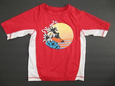 Ocean Pacific Short Sleeve Rash Guard Top - Kids Size XS (4-5)