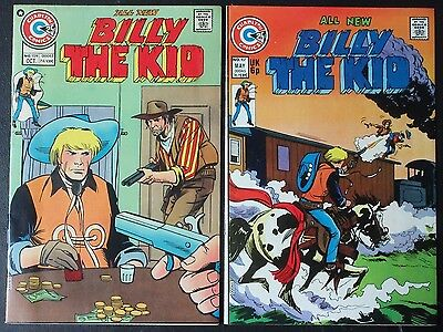 BILLY THE KID #107 (VF/NM) #109 (VF) 2 Classic Western Comics! Charlton 1974