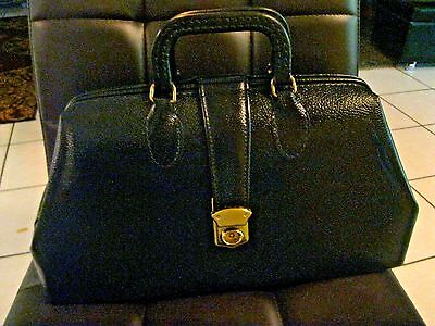 Doctors Medical Black Leather Satchel Bag - Graftco 1544-16 Beautiful Example A+
