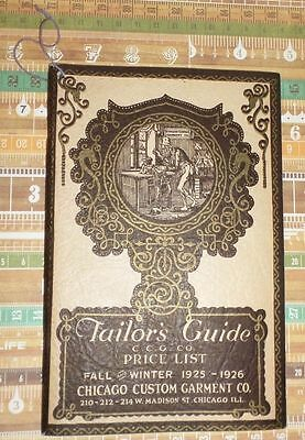 Tailor's Guide Price List 1925-1926 Men's Ladies Fashion Advertising Catalog