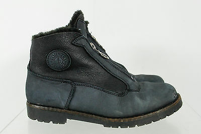Tecnica Country Solid Black Middle Zipper Ankle Boots Shoes Size 37