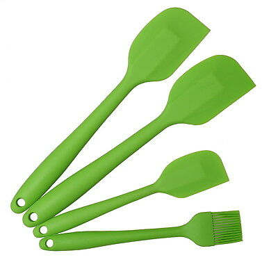 Thboxs Green 4 Pack Silicone Spatula Pastry Brush Cooking Oven DIY Utensil Set