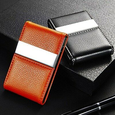 Unisex Business Name Card Holder Portable Card Case Duble Open Mini Wallet
