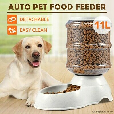 New 11L Automatic Pet Dog Cat Food Feeder Large Bowl Bottle Dispenser Plastic