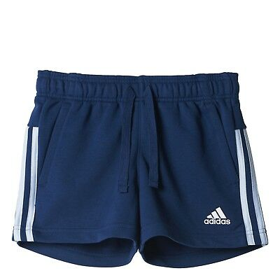 adidas Girl Fitness Sports shorts Essentials 3 Stripes Tight mytery blue