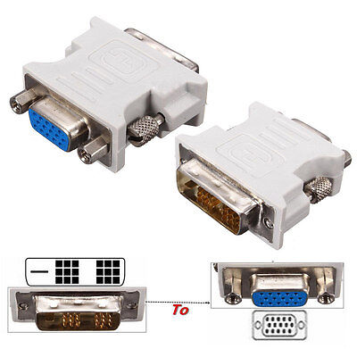 Dual Link 18+1Pin DVI-D Male to VGA 15Pin Female Port Plug Adapter for PC Laptop