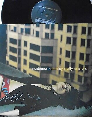 """MADONNA ~ Nothing Really Matters ~ 12"""" Single PS"""