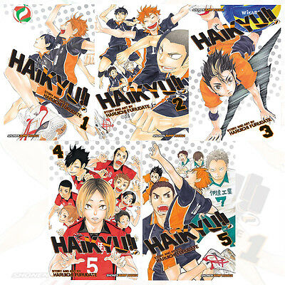 Haruichi Furudate Collection 5 Books Set (Haikyu!! Volume 1-5) New Paperback