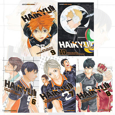 Haikyu!! 6-10 Collection 5 Books Set By Haruichi Furudate New Paperback