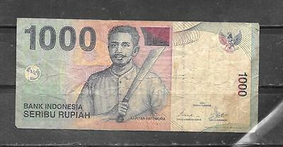 Indonesia #141 2000 Vg Used 1000 Rupiah Banknote Paper Money Bill Note