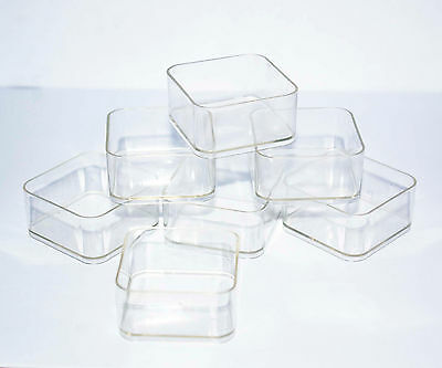 Tea light cups square candle making plastic holders quantity 10, 100, 1000, 3000