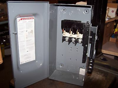 New Square D 60 Amp Non-Fusible Safety Switch Nema Type 1 Indoor Hu362 600 Volt