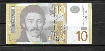 SERBIA 2013 #54b 10 DINARA NEW UNC MINT CURRENCY BANKNOTE BILL NOTE PAPER MONEY