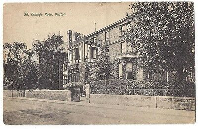 CLIFTON Bristol, College Road, Old Postcard by JB&S Postally Used Postcard c1910