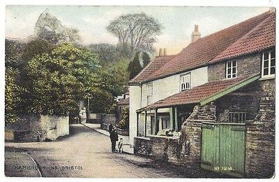 HAMBROOK Gloucestershire, View in the Village, Old Postcard by Harding Sent 1908