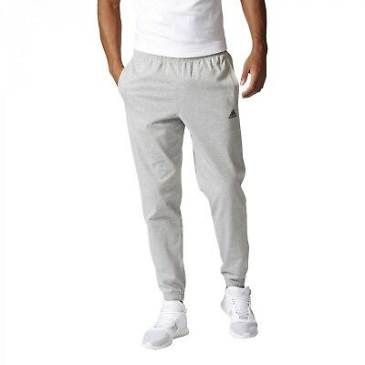 adidas Herren Sport Fitness Trainingshose Essentials Tappered Banded Pant grau