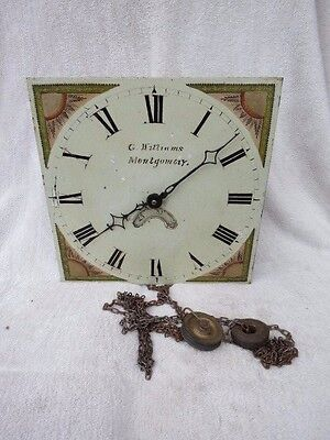Antique Montgomery 30 Hour Longcase Clock Movement, Dial, Etc
