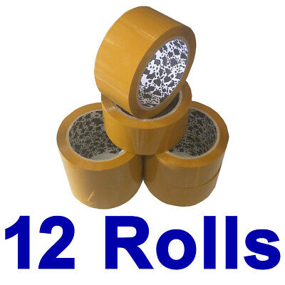 12 Rolls Brown Sticky Packing Sealing Tape 75 Meter x48mm 45 micron