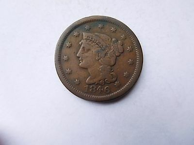 1846 Large Cent Braided Hair Penny Very Good Condition