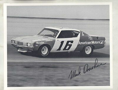 1972 AMC Matador NASCAR Mark Donohue Facsimile Autograph ORIGINAL Photo ww8266