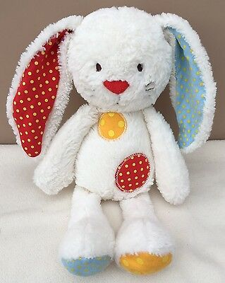 Mothercare spotty bunny soft toy comforter Colourful Patch White Baby Teddy