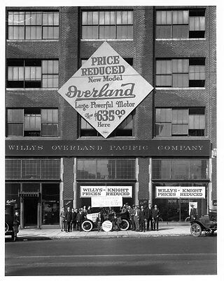 1923 Willys Overland ORIGINAL Factory Glass Photograph Negative oad5069