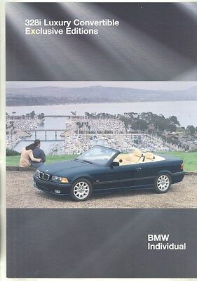 1994 BMW 328i Luxury Convertible Exclusive Edition Brochure d0948