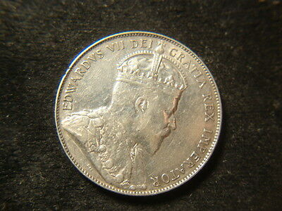 1906 AU BU  Canada Fifty Cents Very Eight Pearls Nice Coin